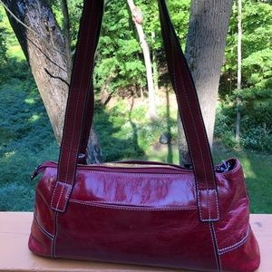 Authentic Giani Bernini Red Leather Satchel Purse